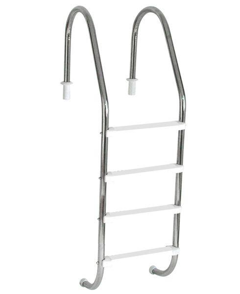 Escada em Aço  Inox com 4 Degraus em ABS anatômico SODRAMAR