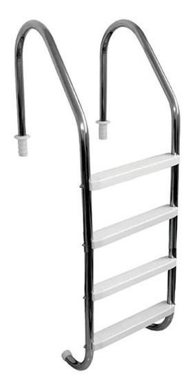 Escada para piscina 1.1/2 Polegada com 4 Degraus em Abs 4LB