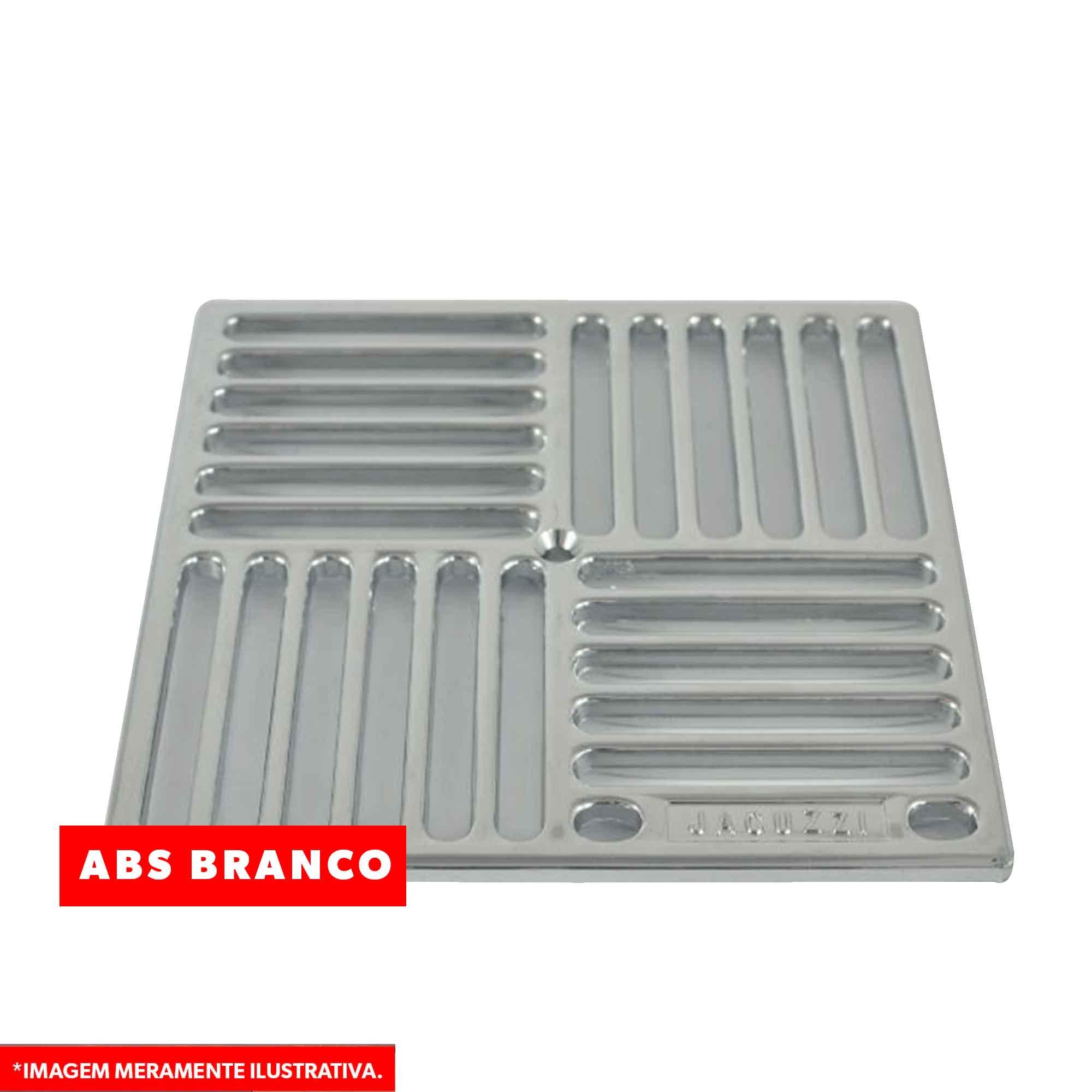 Grade Barra MD15Q em ABS Branco 15x15 Jacuzzi