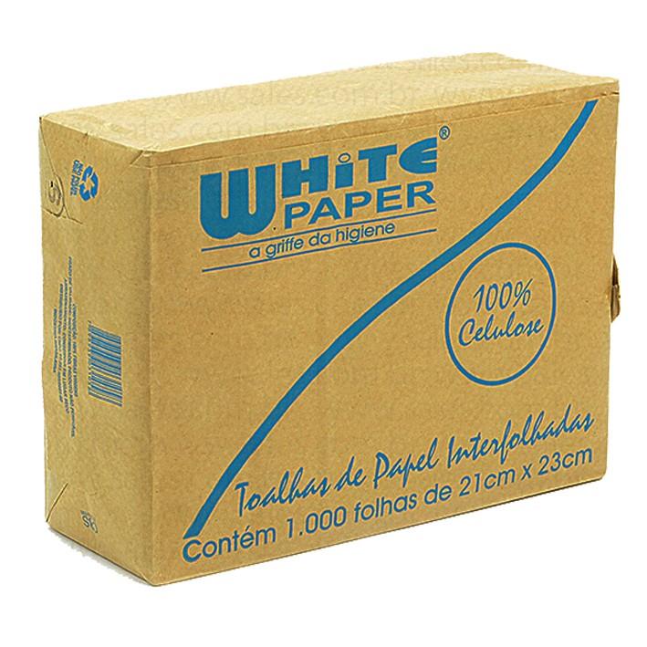Papel Interfolha Branco 2D com 2000 23x21 White Paper