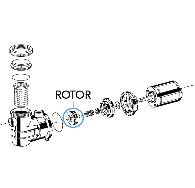 "Rotor Noryl ""3A"" 9838 jacuzzi"