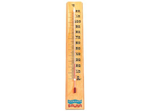 Termômetro de Madeira para Sauna