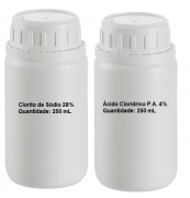 Kit MMS 500 mL (Clorito de Sódio 28% + HCl PA 4%)
