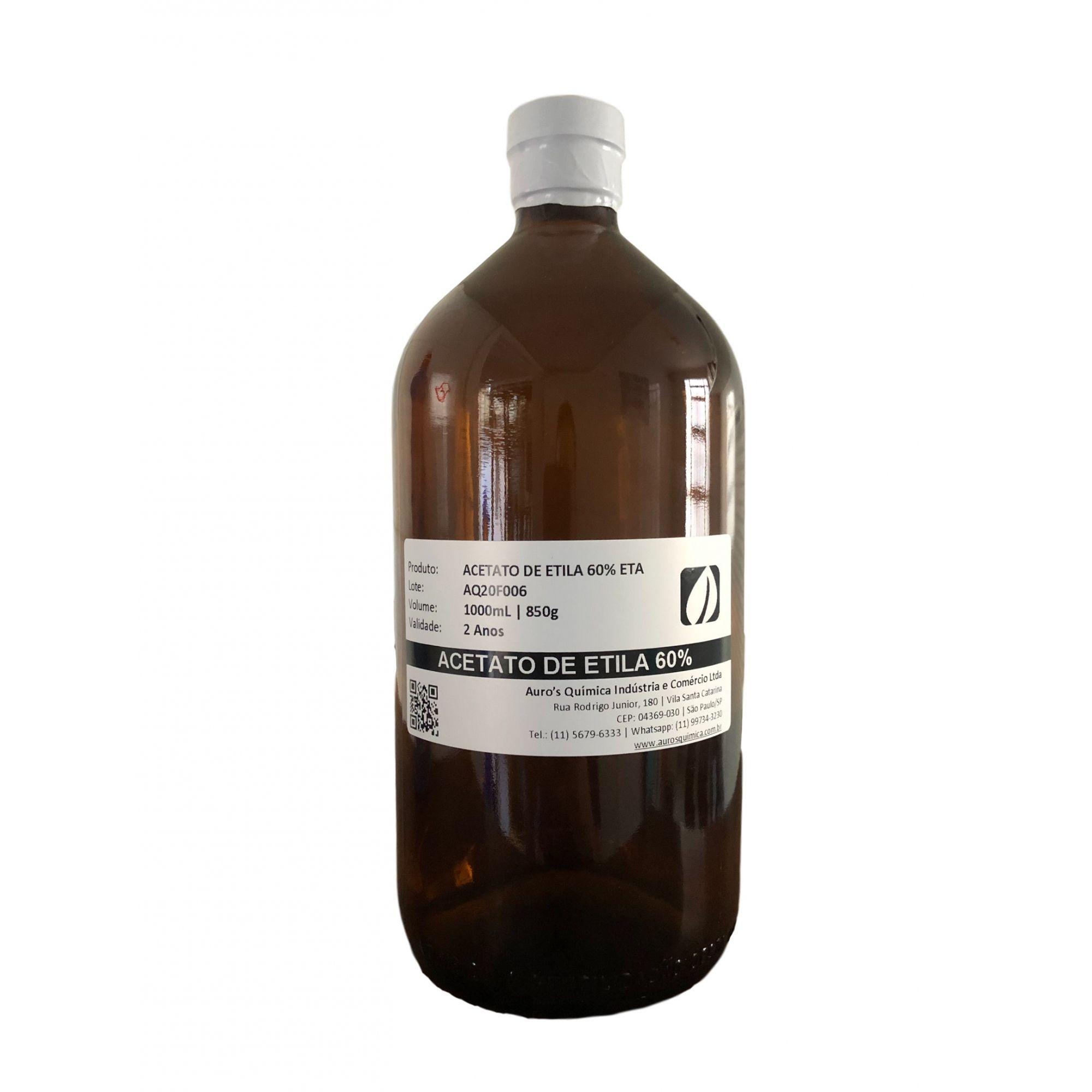 Acetato de Etila 60% ETA - 1 Litro