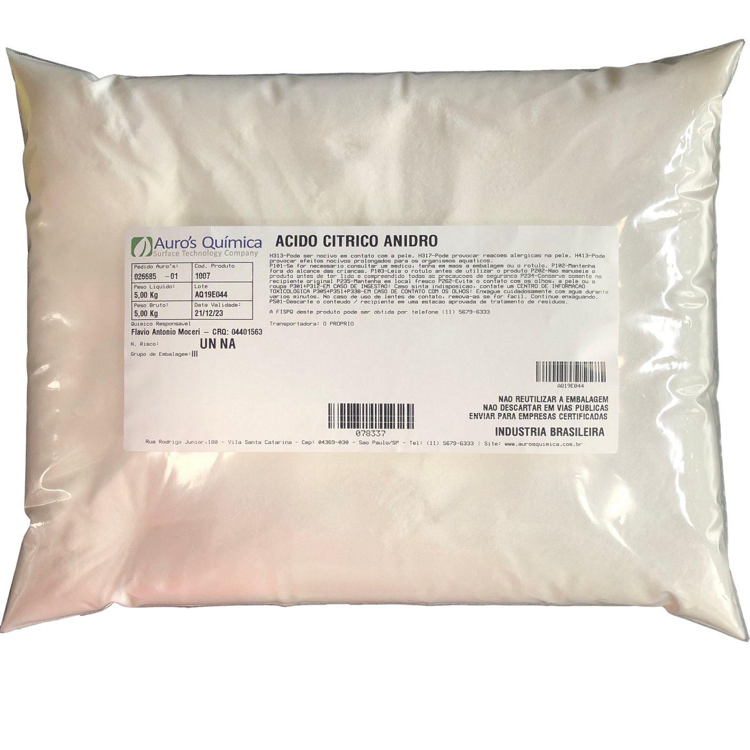 Ácido Cítrico - 5 Kg