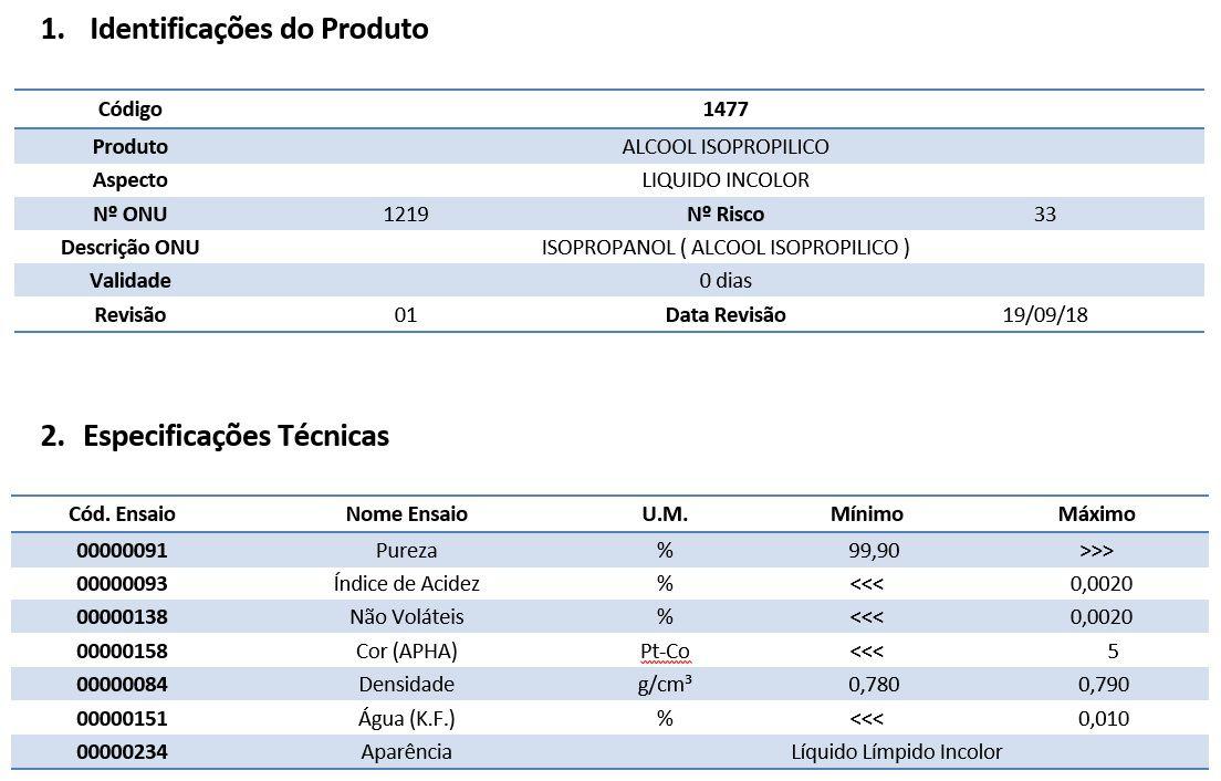 Álcool Isopropílico 99,9% - 10 Litros
