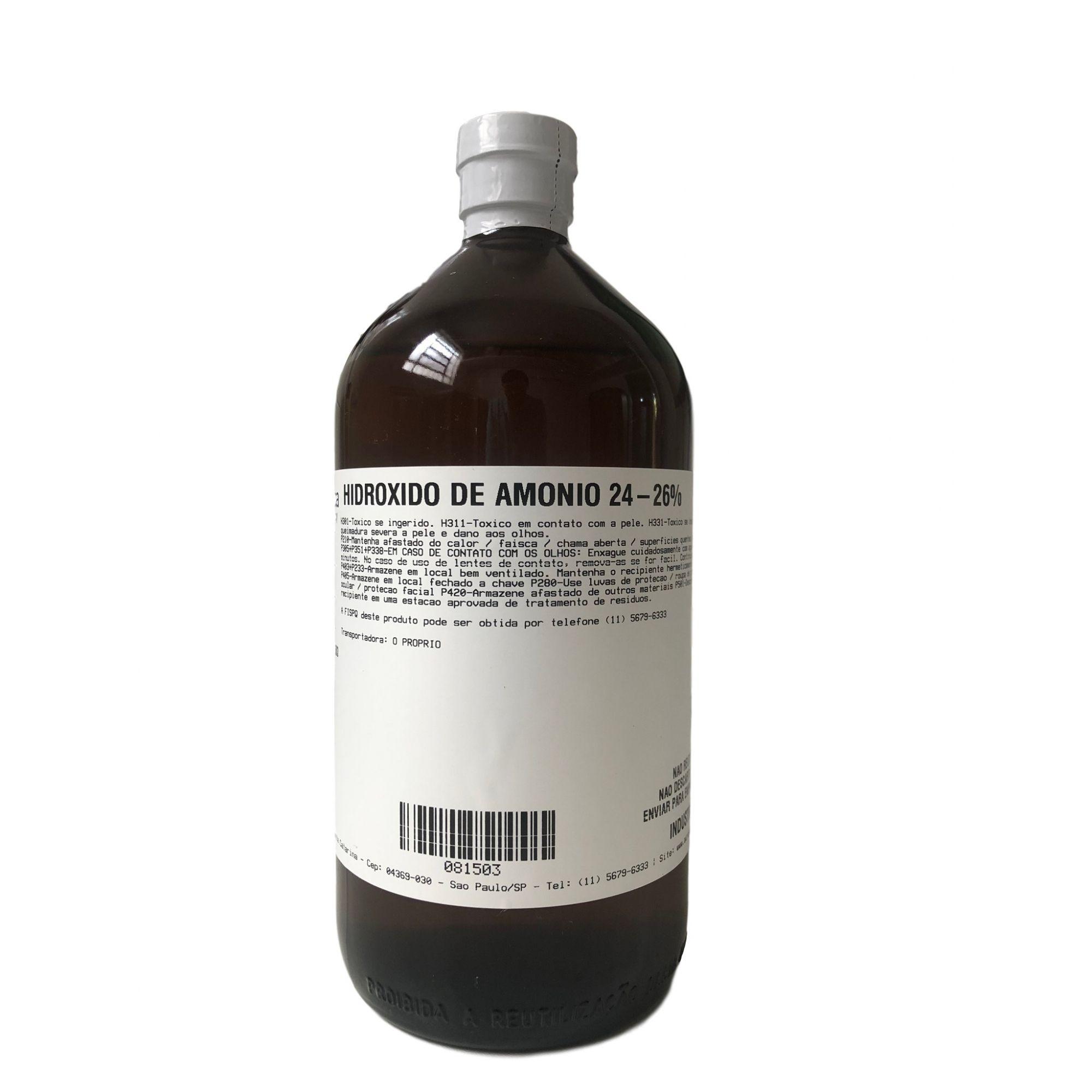 Amônia Solução 25% - 1 Litro