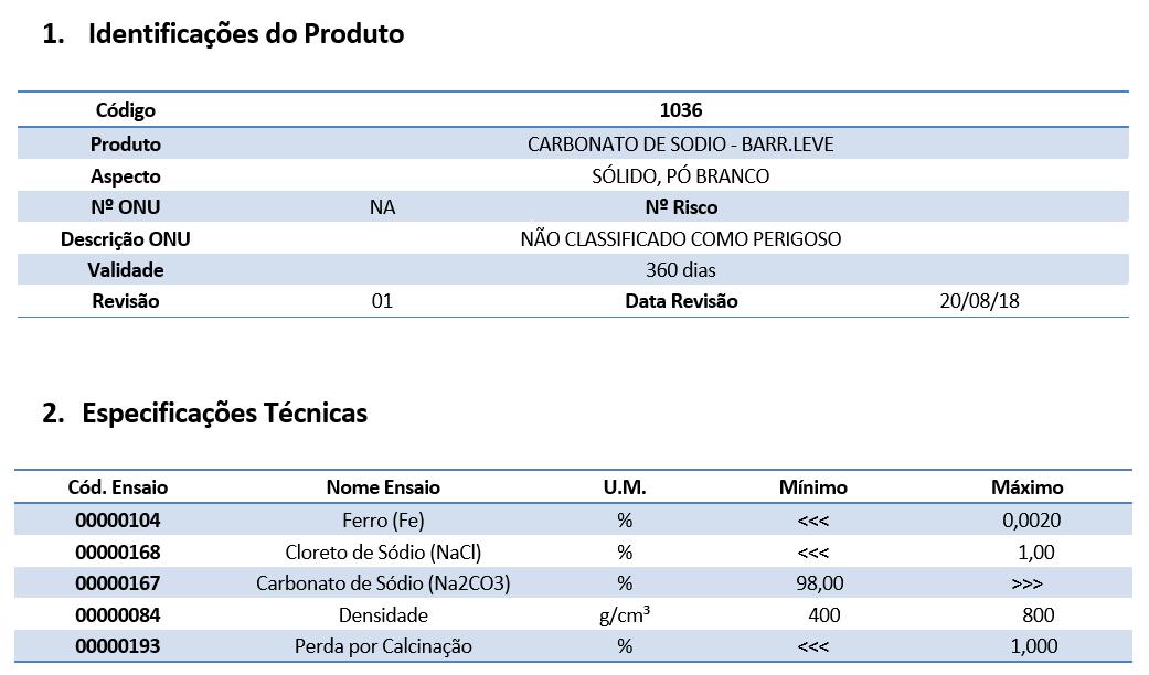Carbonato de Sódio (Barrilha Leve) - 5 Kg