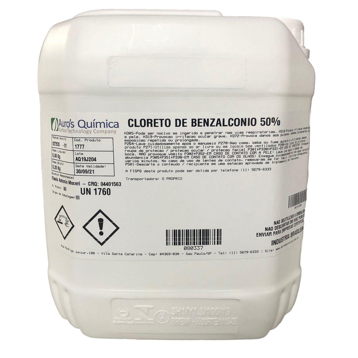 Cloreto de Benzalcônio 50% - 5 Litros