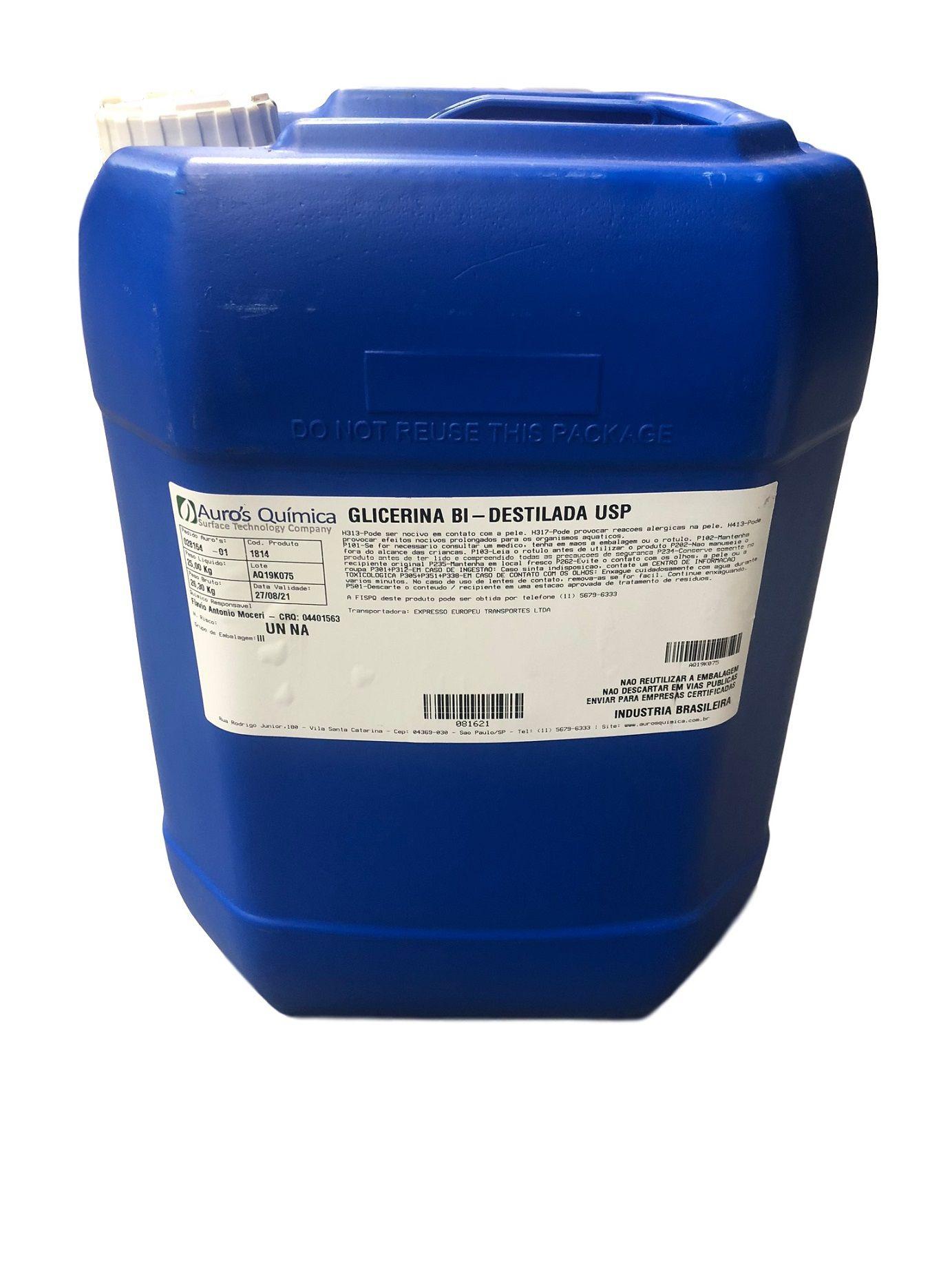 Glicerina Bi Destilada USP - 25 Kg