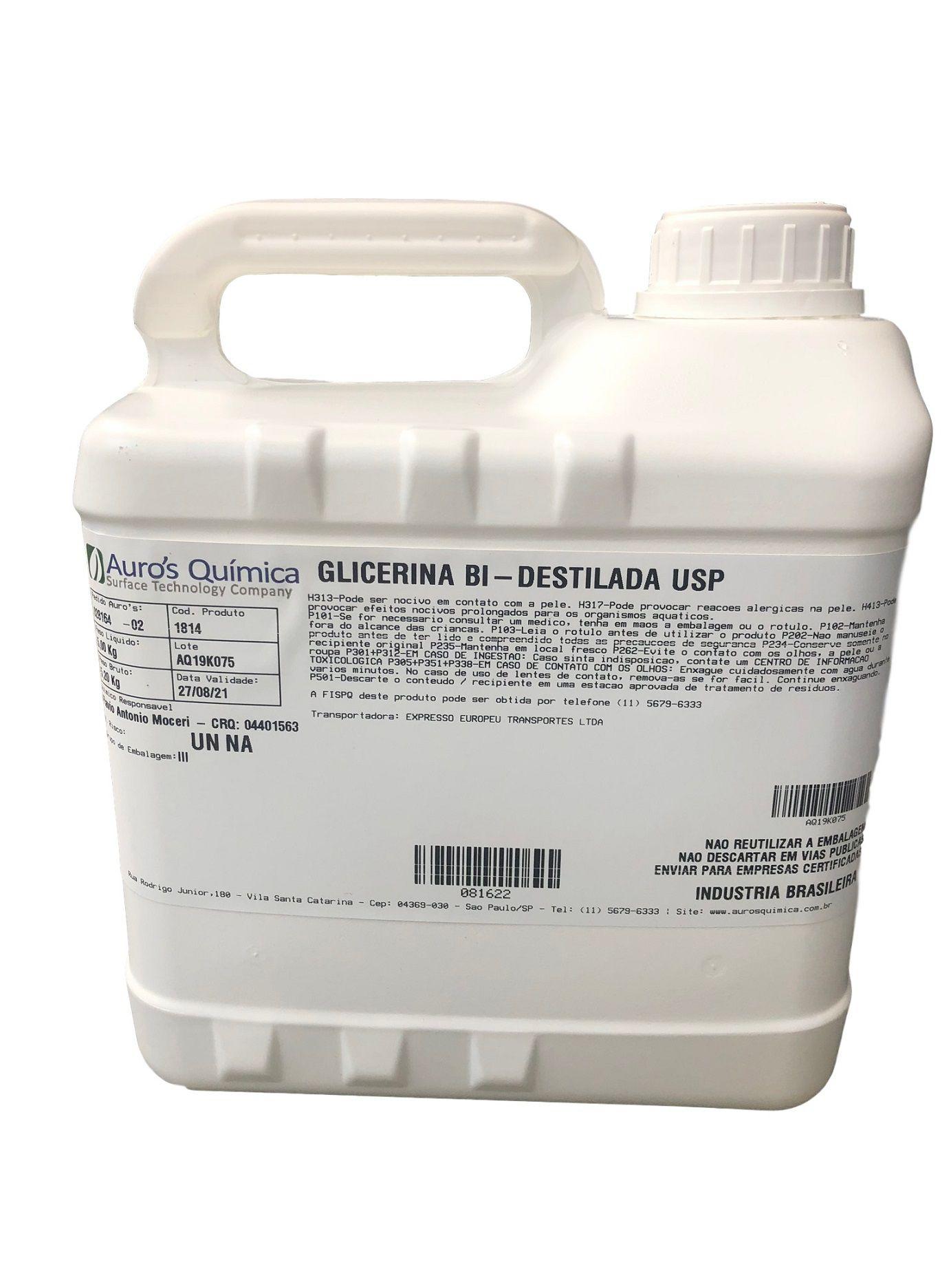 Glicerina Bi Destilada USP - 5 Kg