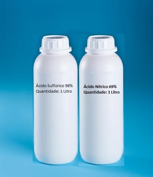 Ácido Sulfúrico 98% + Ácido Nítrico 69% - 1 Litro cada