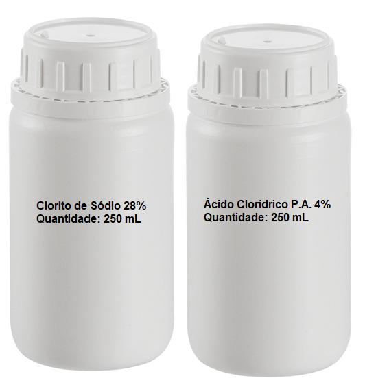 Kit MMS 500 mL (Clorito de Sódio 28% + HCl PA 4%)