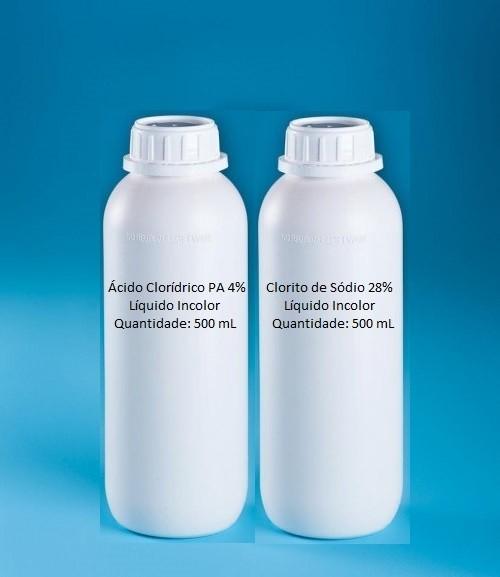 Kit MMS 1000 mL (Clorito de Sódio 28% + HCl PA 4%)