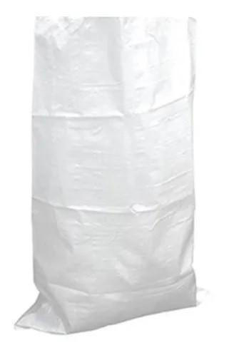Saco de Ráfia Branco Laminado com PE Interno 45x80 - 10 Unid