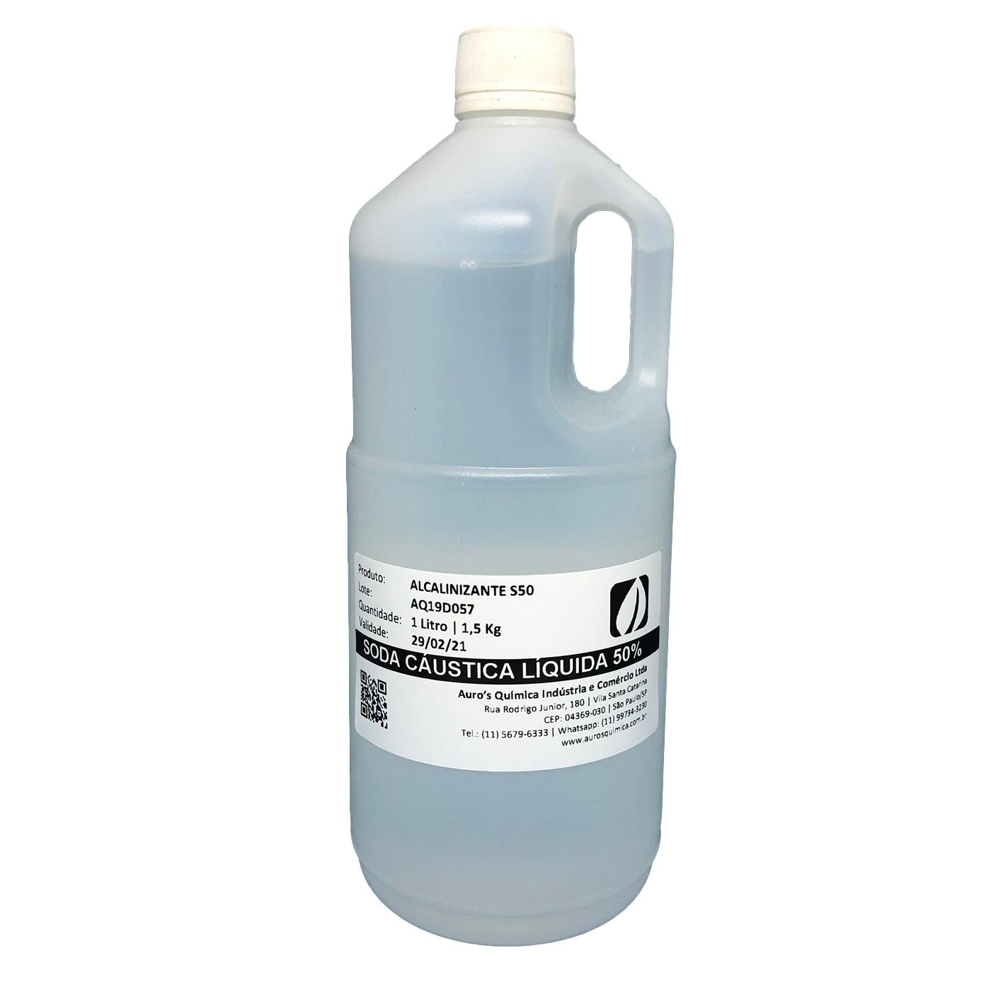 Soda Cáustica 50% - 1 Litro (10 Unidades)