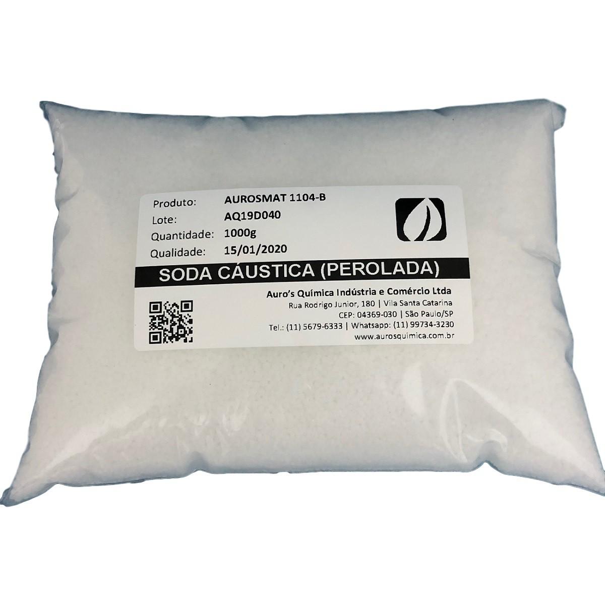 Soda Cáustica Perolada 99% - 100 Pacotes 1 Kg