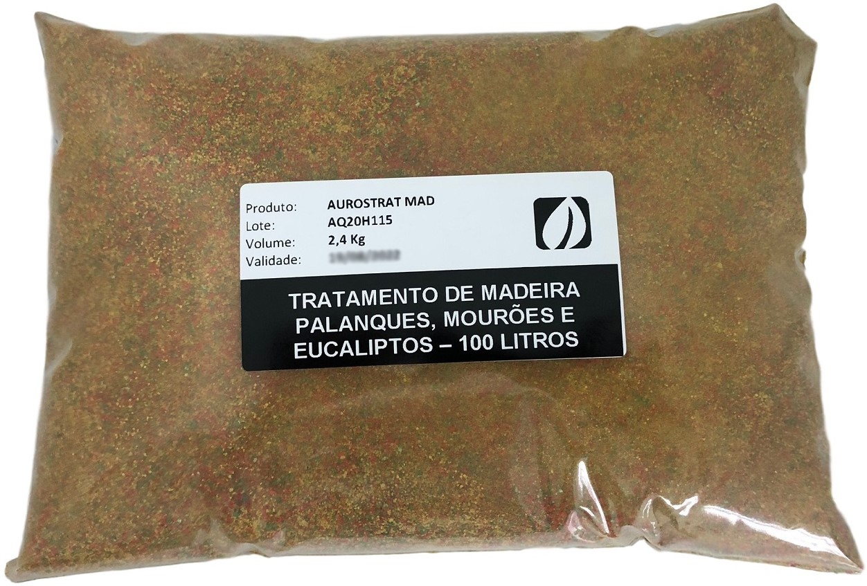 Tratamento de Madeira - 300 Litros   3 Sacos 2,4 Kg