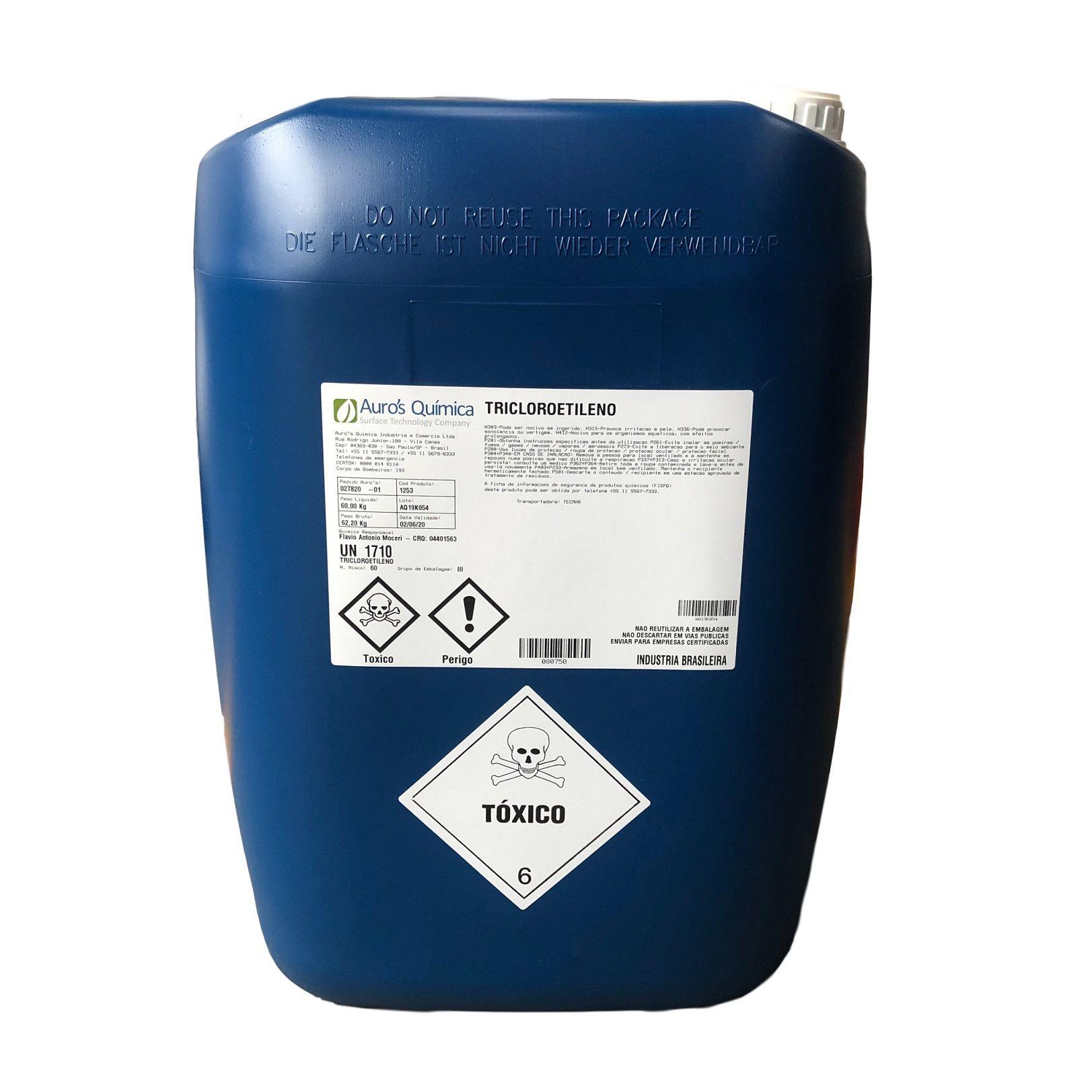 Tricloroetileno 99,0% - 40 Litros | 60 Kg