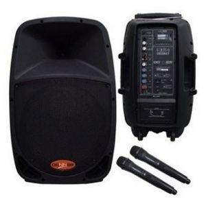 Caixa Donner Acústica Dr12Bat 160W Com 2 Microfones