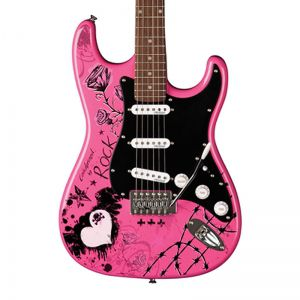 Guitarra Eagle Egp10 Strato Person Rock Rosa