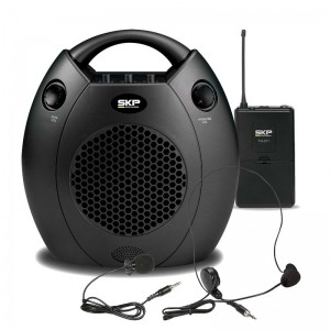 Kit Portátil de Microfone + Auto Falante para Palestras SKP Globetrotter TH 211
