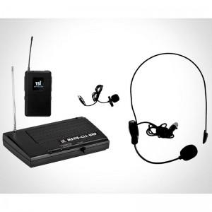 Microfone TSI MS115-CLI-UHF Headset e Lapela