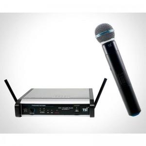 Microfone TSI MS-115-UHF PLUS Diversit Mão Sem Fio