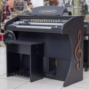 Órgão Acordes - AC300 Preto Fosco - 49 Teclas