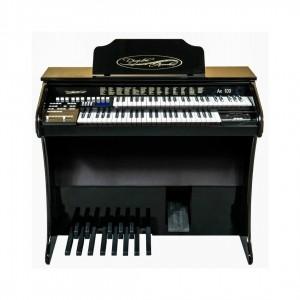 Órgão Acordes - AX100 Preto Auto Brilho - 49 Teclas c/ Clave de Sol