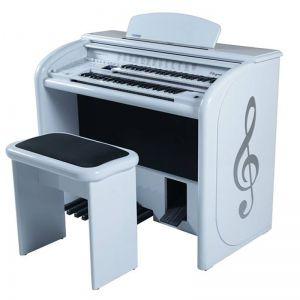 Órgão Eletrônico Digital Acordes - AX 100 Top Elegance Branco - 61 Teclas