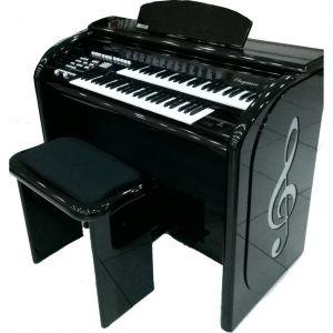 Órgão Acordes Top Elegance Preto