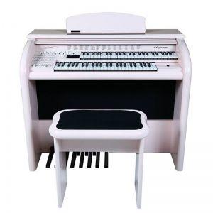 Órgão Eletrônico Digital Acordes - AX 100 Top Elegance Rosa Claro - 61 Teclas