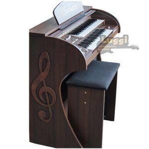 Órgão Eletrônico Digital Acordes - 2D Premium Marrom Fosco - Clave de Sol - 44 Teclas