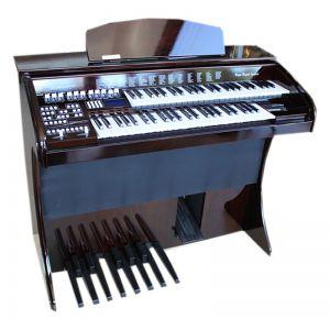 Órgão Eletrônico Digital Acordes - AX100 Gold Imbuia Auto Brilho - 49 Teclas