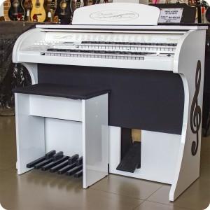 Órgão  Acordes - CLASSIC 49 teclas Branco BRILHO