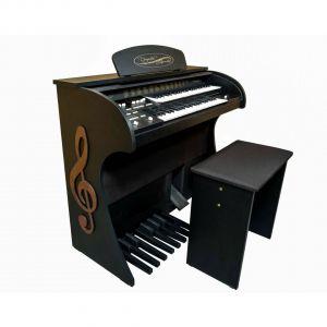 Órgão Eletrônico Digital Acordes - 2D Premium Preto Fosco - Clave de Sol - 44 Teclas