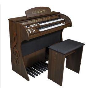 Órgão Eletrônico Digital Acordes - 3D Marrom Fosco - Clave de Sol