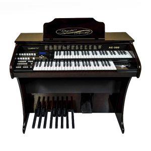 Órgão Acordes - AC300 Imbuia Auto Brilho - 49 Teclas