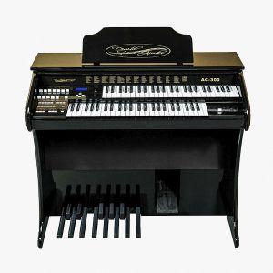 Órgão Acordes - AC300 Preto Auto Brilho - 49 Teclas