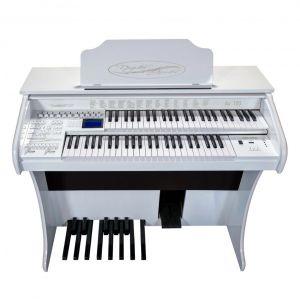 Órgão Eletrônico Digital Acordes - AX100 Gold Branco Auto Brilho - 49 Teclas