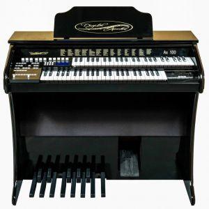 Órgão Eletrônico Digital Acordes - AX100 Gold Preto Auto Brilho - 49 Teclas