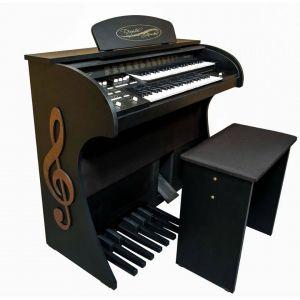 Órgão Acordes - Premium Preto Fosco c/ Clave de Sol