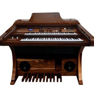 Órgão Hamonia HS-500 Marrom Auto Brilho - 61 Teclas