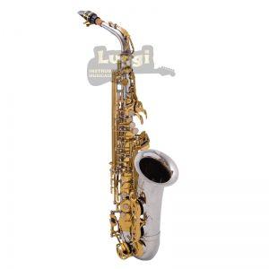 Sax Alto Schieffer Niquelado/Dourado Schas006