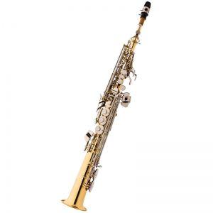 Sax Soprano Eagle Sp502Ln Laqueado C/Chaves Niquel