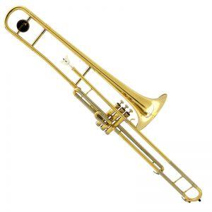 Trombone Pisto Eagle Tv602 Sib Laqueado Longo