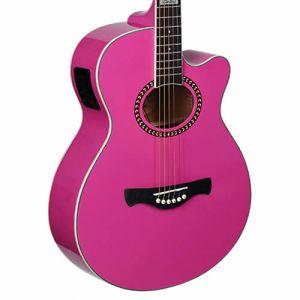 Violão Tagima Dallas Tuner Aço Rosa Pink