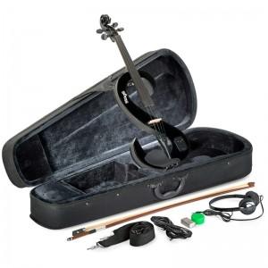 Violino 4/4 Stagg Eletrico Preto EVN BK