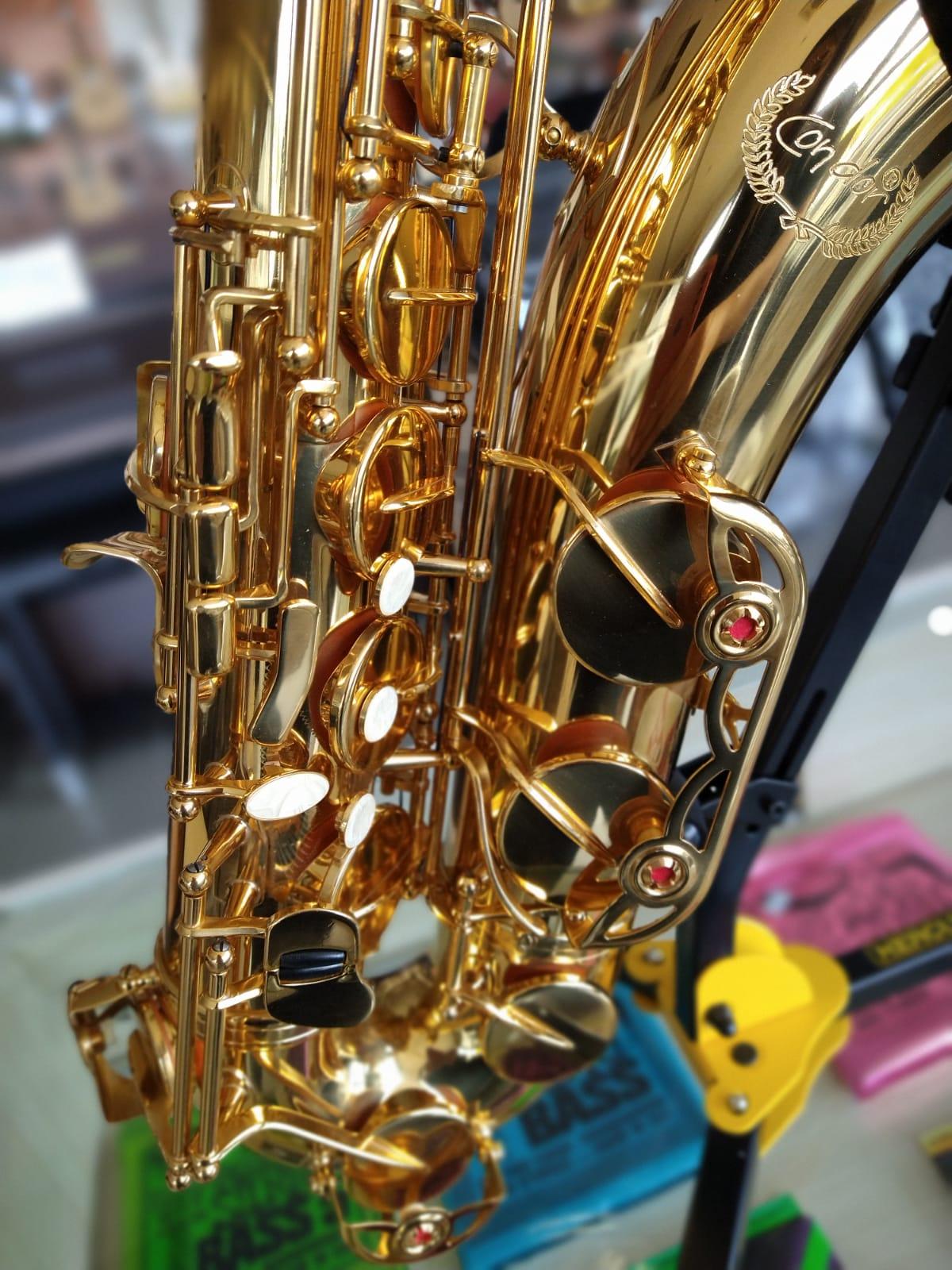 SAX TENOR CONDOR MIX02276 DOURADO  - Luggi Instrumentos Musicais